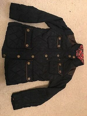 Girls Blue Next Winter Quilted Coat Size 7/8