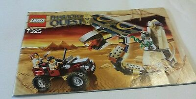 Lego Pharaoh's Quest 1x Set of Instructions only - 7325