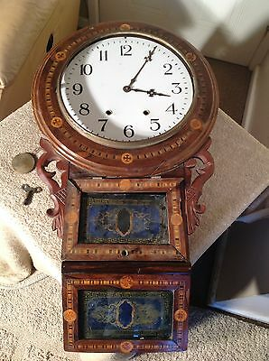 Antique Drop Box Clock Spares/ Repair/restoration 99P Start No Reserve