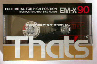 Sealed THATS EM-X 90 Metal Type II cassette tape,music,TAIYO YUDEN Co.