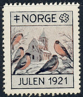 NORWAY 1921 Christmas Seal (NKS16.11) Otto Valstad, artist - Mint Never Hinged