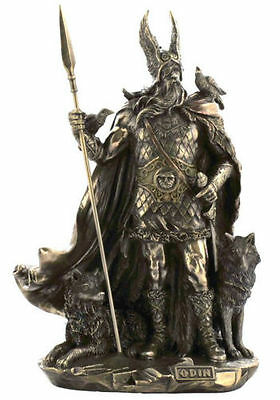 Odin Viking Figure Norse God Statue Sculpture - SHIPS IMMEDIATLY !