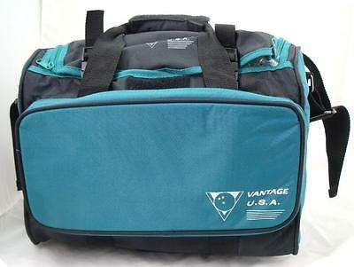 Vantage Single Teal/Black Tenpin Bowling Ball and Shoes Bag - New