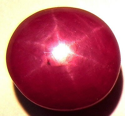 5.50Cts Very Beautiful 100% Natural Star Ruby 6 Lines Cabochon Gemstone