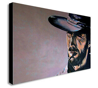 CLINT EASTWOOD THE GOOD THE BAD AND THE UGLY  Canvas Wall Art Print.