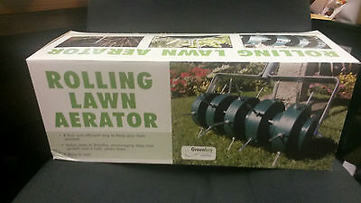 Greenkey Rolling Lawn Aerator For Perfect Lawns 30Cm
