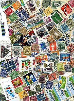 GERMANY UNSORTED COLLECTION OF OVER 250 STAMPS USED & MINT : See Scan
