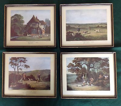 Thomas Sutherland  X 4 Coloured Engraving Prints 'Shooting'