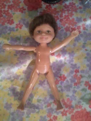 Barbie baby Kelly VERY RARE TOMMY Articulated Brown hair doll Ryan fd no Clothes