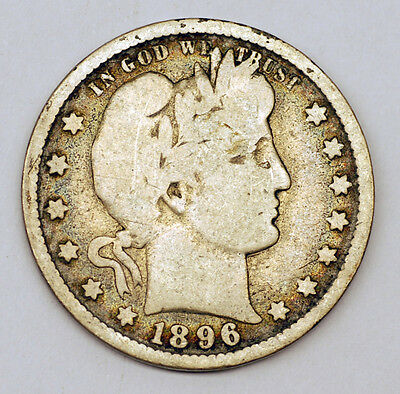 1896O United States Silver 1/4 Quarter Dollars Coin