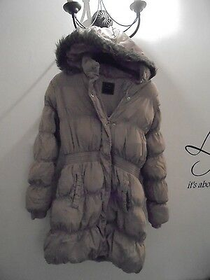 Next Girls Puffa Style Long Length Winter Coat Age 11-12