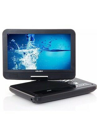 Bush 10 Inch Portable DVD Player - Black Inc Remote Main Charger RRP £69.99