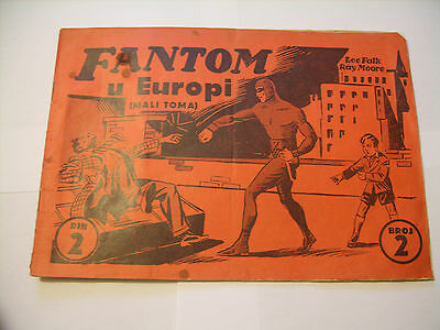 "Fantom ""the Phantom"" #22. 1938.  Yugoslavia (Lee Falk & Ray Moore)"