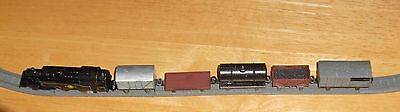 Lone Star 000/N gauge mixed goods train set with metal track oval (not electric)
