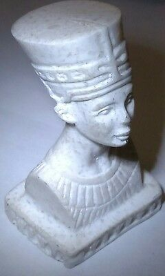 Egyptian Antique, Queen Nefertiti, Curved Marmar Stone,  Read Description