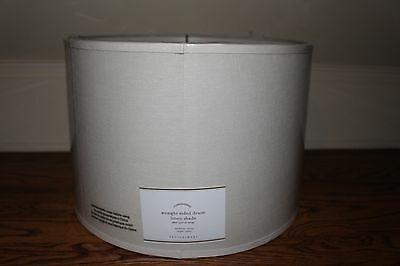 NWT Pottery Barn Straight Sided linen drum lamp shade small ivory