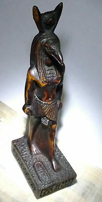 Egyptian Antique HORUS symbol of Protection Curved Basalt Stone Read Description