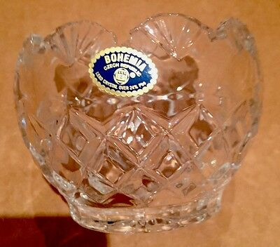 Bohemian Czech Republic Lead Crystal Dish Bowl over 24% Pbo VGC