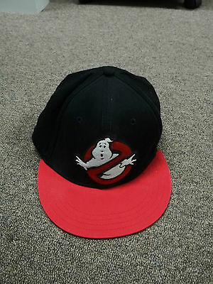 Ghostbusters Black And Red Canvas  Baseball Cap Hat Size M