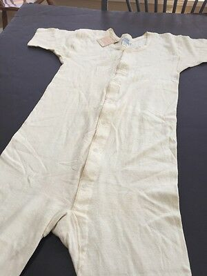 Vtg Boys Union Suit by Duofold NOS Wool / Cotton C. 1940's Size 14  VC37
