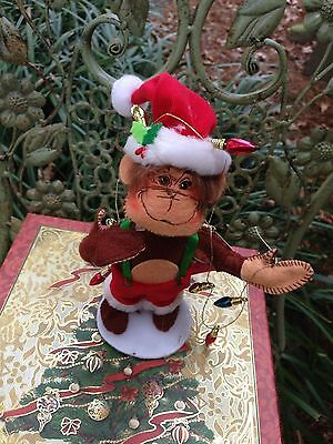 Deck The Halls, Annalee Holiday Monkey Doll