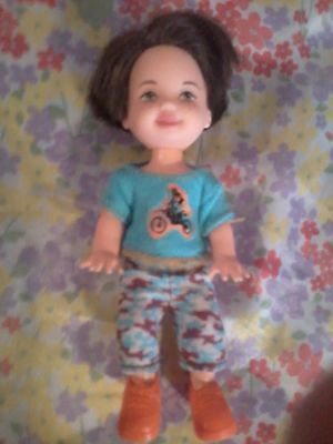 Barbie baby Kelly HTF TOMMY RYAN MotorCycle Bike SHIRT Camo SHORTS Clothes Shoes