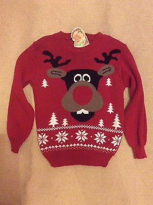 Child Girl's Boy's Christmas Xmas Jumper Age 3-8 Years