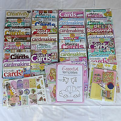 Job Lot of Assorted Craft/Cardmaking Magazines, Card Making Kits & Papers