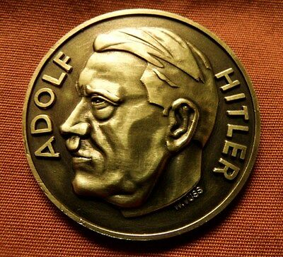 Ww2 Nazi Third Reich Adolf Hitler , Eagle And Swastika Commemorative Coin Rare