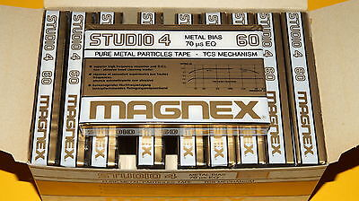 10x MAGNEX STUDIO 4 60 Metal Cassetten Tapes + IN BOX + MADE IN ITALY +