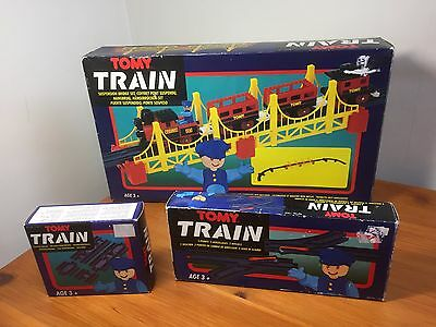 Vintage Retro Tomy bridge Set train adapter tracks boxed 1342-1326 bundle