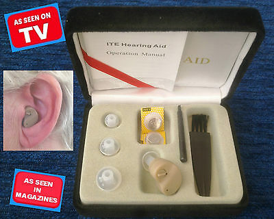 NEW UK AS SEEN ON TV Tiny Sound Amplifier In Ear Aid for Louder Better Hearing