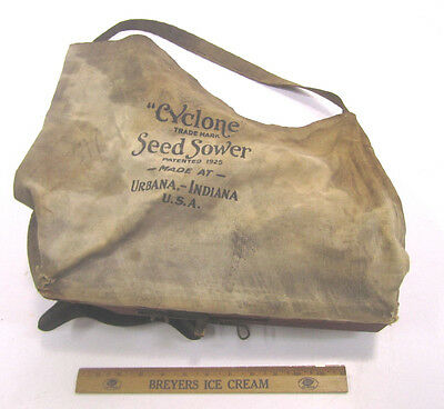 Vintage Cyclone Hand Crank Seed Sower Patent 1925 Farm Garden Primitive