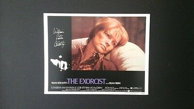 THE EXORCST, william peter blatty, signed photograph.