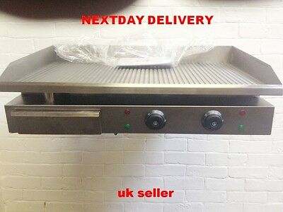 Large 73Cm  Stainless Steel Ribbed Commercial   Electric Griddle