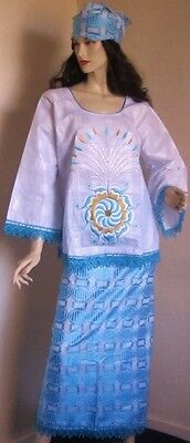 African Senegalese Style Top and wrapper skirt Size Available: 16 and 18