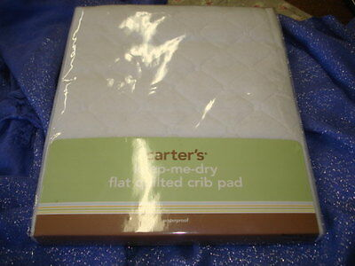 Carter's Keep Me Dry Waterproof Fitted Quilted Crib Pad - White