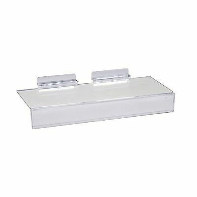 "Slatwall 4""x10"" Injection Molded Styrene Shoe Shelf with Sign Holder -100 Pieces"