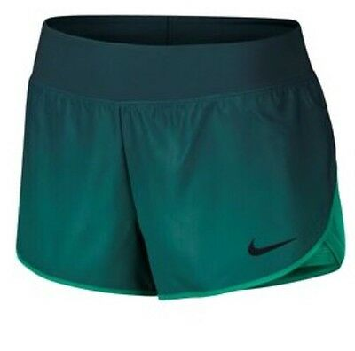 NIKE COURT FLEX ACE 2 in 1 SHORTS MIDNIGHT TURQUOISE/ BLACK SZ M 801617-346