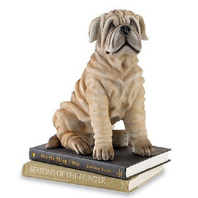 "LIFESIZE SHAR PEI PUPPY FIGURINE DOG deluxe NEW IN BOX huge 11-1/2"" TALL"
