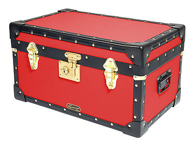 British Mossman Boarding School Flip Lock Tuck Box - Luggage Case Storage Trunk