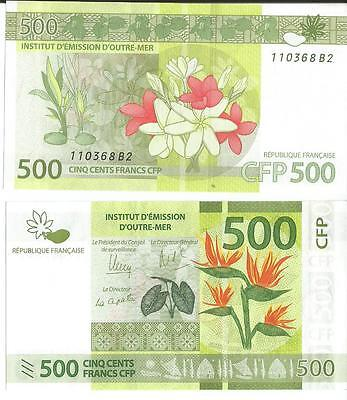 French  Polynesia  Banknote 500 Cpf  New Unc++