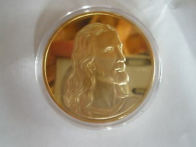 8 COINS of 1 OZ  24KT GOLD PLATED JESUS/LAST SUPPER COIN/christmas present