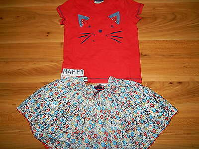 NEXT M&S girls skirt top outfit 3-4 years  *I'll combine postage