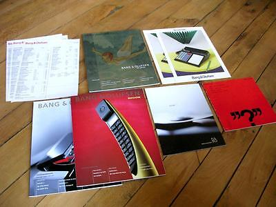 Bang and Olufsen B&O LOT of 11 Bochures , Manual, Price List and Magazines