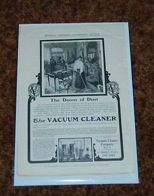 1906 Ad  The Doom Of Dust The Vacuum Cleaner Company New York