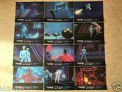 12 Photos d'exploitation : Tron (1982) FRENCH Lobby Cards Walt Disney (Bridges)