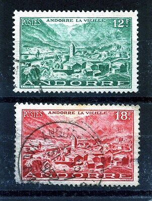 ANDORRA 1944 ISSUE: 12Fr & 18Fr GOOD USED: SEE SCAN