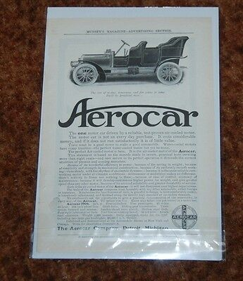 1906 Ad  Aerocar Detroit Michigan Built By Practical Men