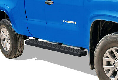 """Matte Black 5"""" iBoard Running Boards Fit 05-17 Toyota Tacoma Access Cab"""
